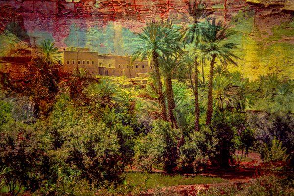 Palais et végétation luxuriante